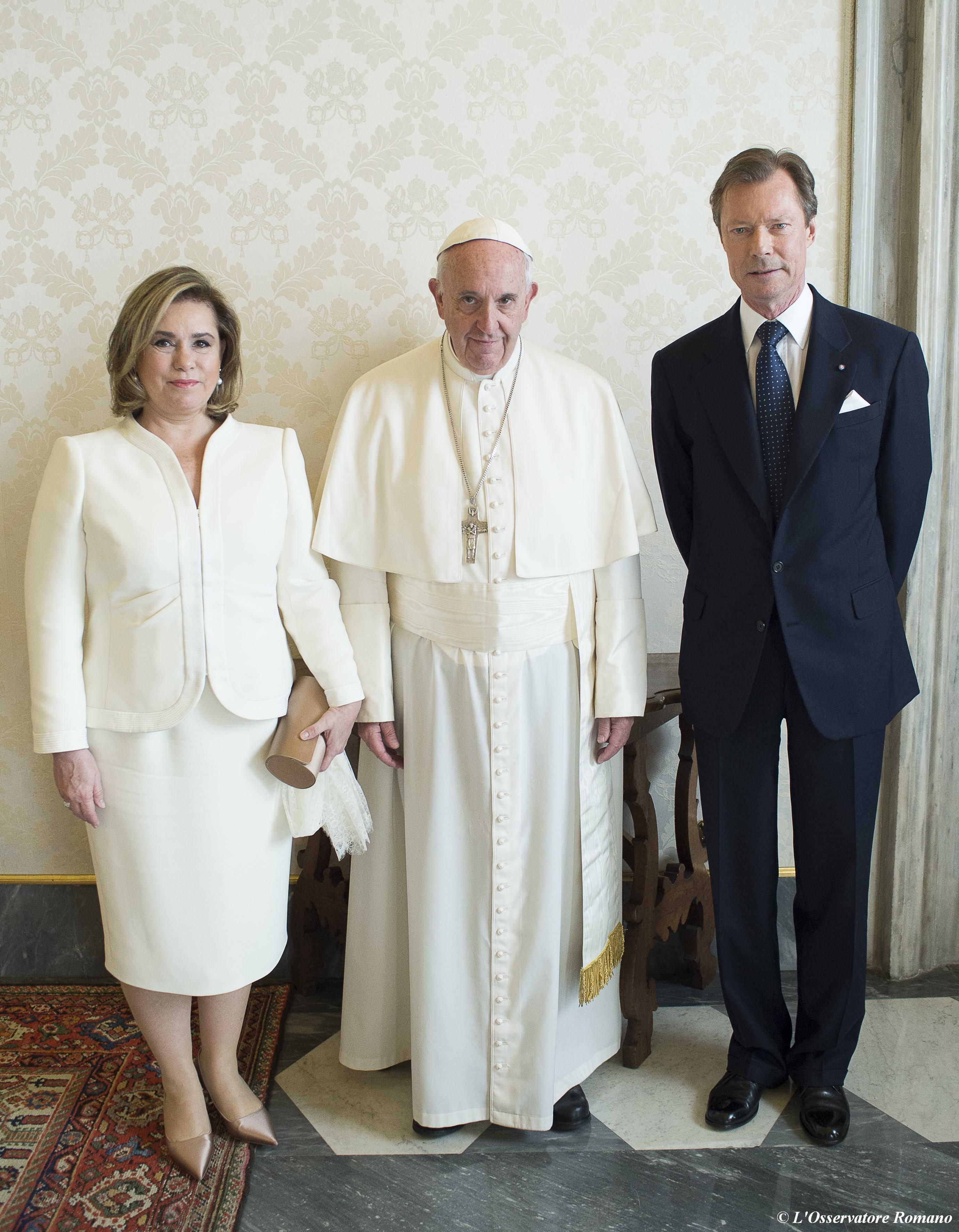 Le grand-Duc et la Grande-Duchesse du Luxembourg, L'Osservatore Romano