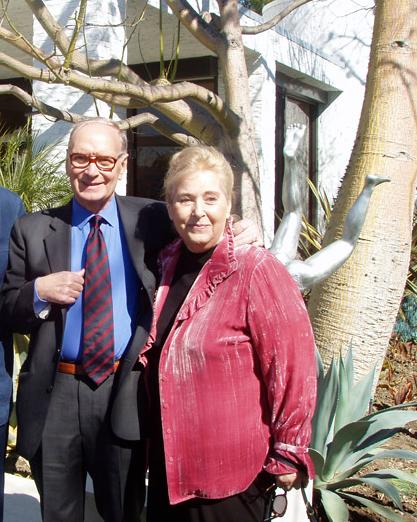 Ennio Morricone et sa femme Maria, page facebook du maestro