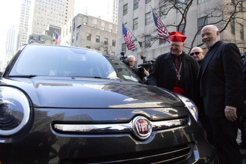 Fiat du pape François, photo du diocèse de New York