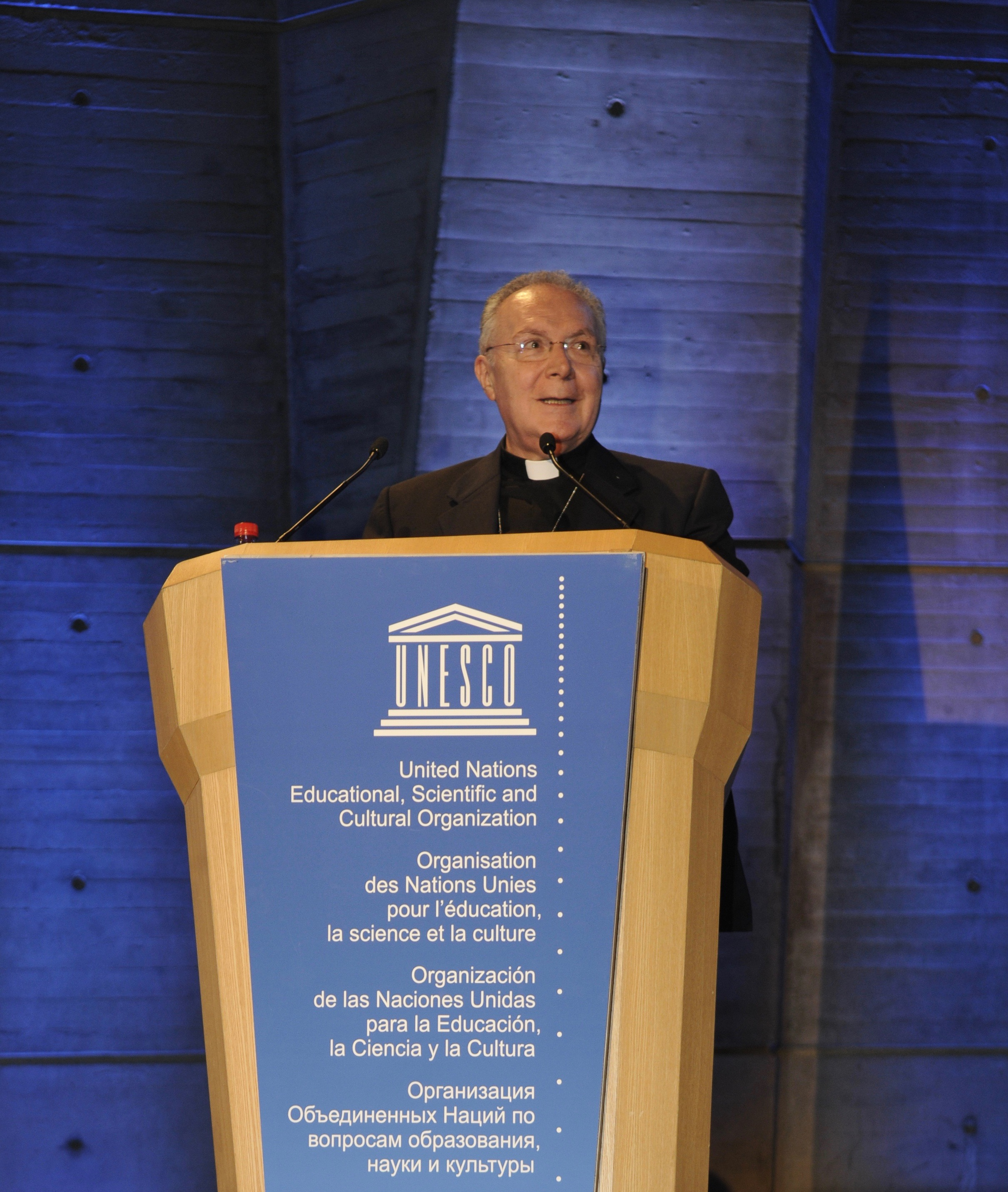 Mgr Follo, 2016 © courtoisie de la Mission du Saint-Siège à l'UNESCO