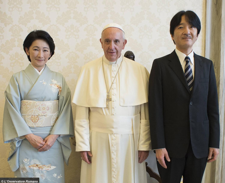 Le prince Fumihito et la princesse Kiko reçus par le pape
