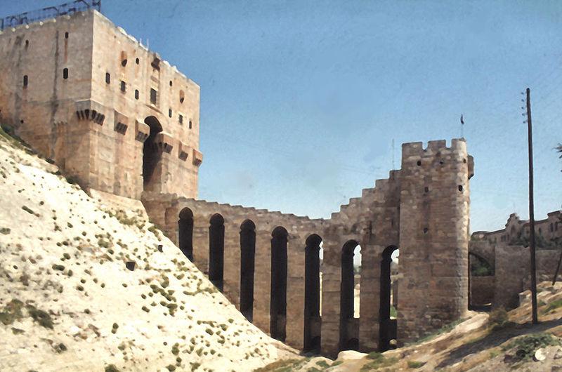 Citadelle d'Alep, wikimedia commons, Michel Benoist
