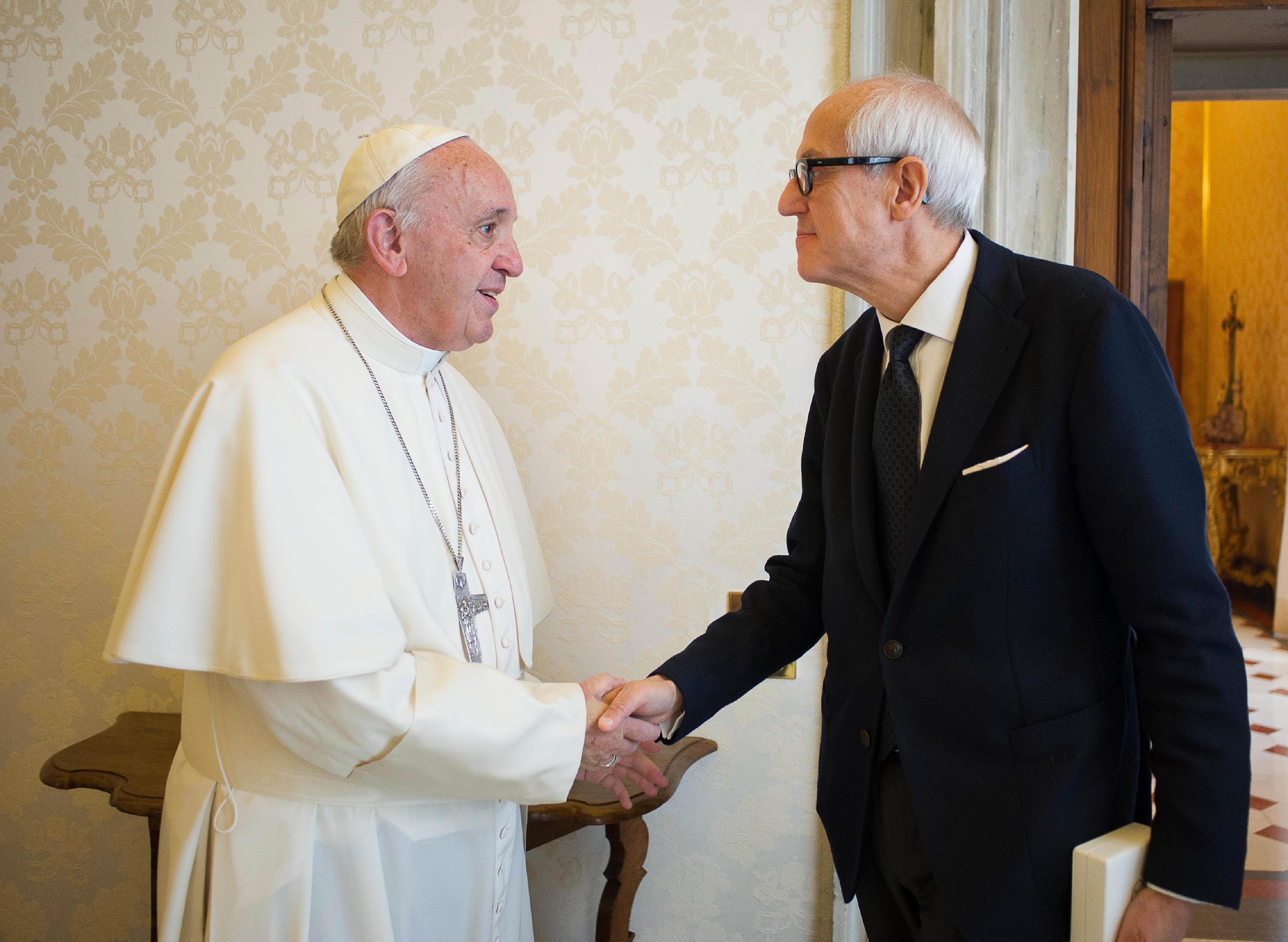 Le commissaire Tronca reçu par le pape François, L'Osservatore Romano