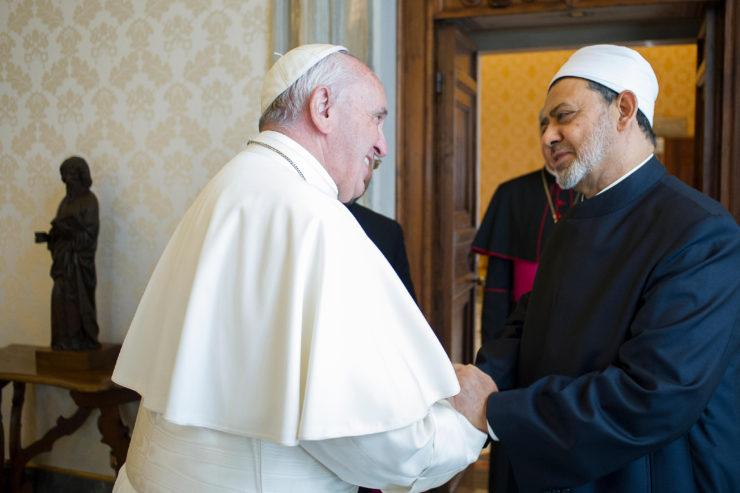 Visite du grand imam de Al-Azhar (Le Caire, Egypte) © L'Osservatore Romano