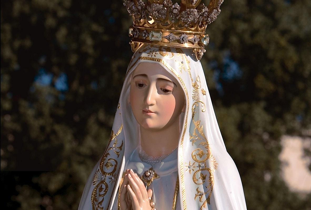 Statue de Notre Dame de Fatima, courtoisie du sanctuaire