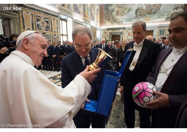 Audience à la Juventus et au Milan, L'Osservatore Romano