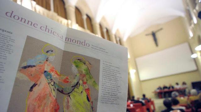 Présentation du mensuel de L'Osservatore Romano relooké, Photo Roma Sette