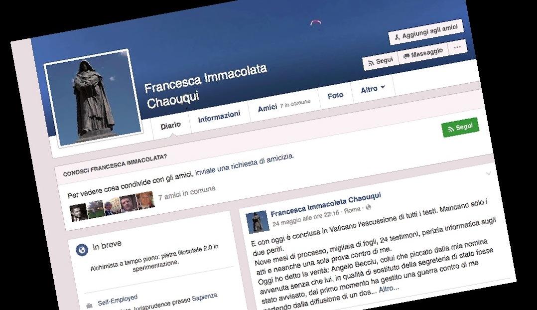 Page facebook de Mme Chaouqui