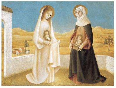 """La Visitation, Magnificat, par Bradi Barth copyright """"BRADI BARTH"""""""