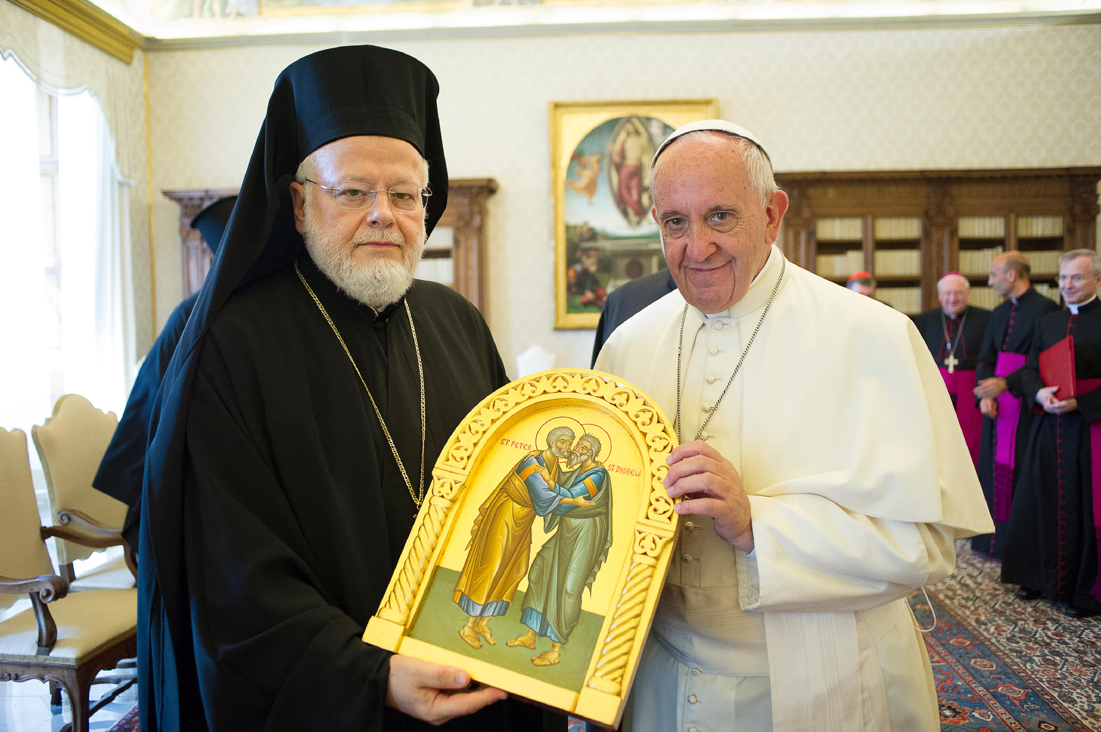 Visite du métropolite Methodios de Boston, 28 juin 2016 (c) L'Osservatore Romano