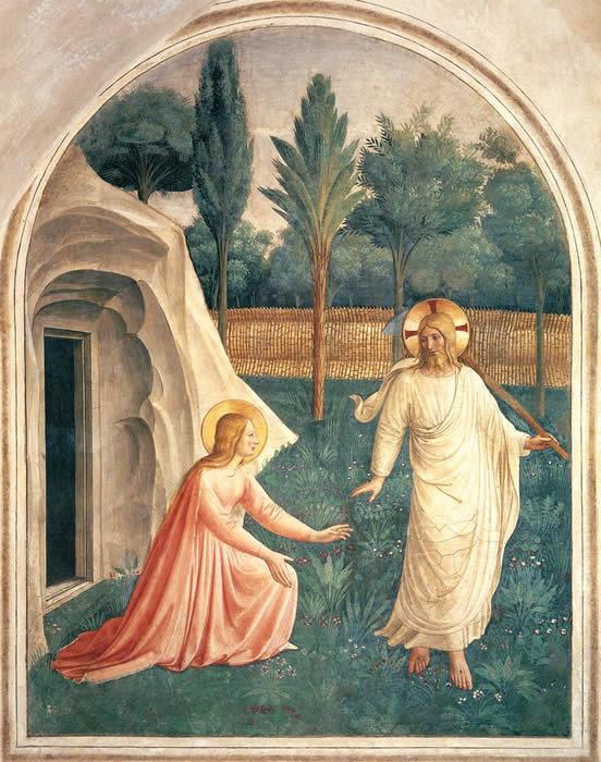 Apparition du Christ ressuscité à Marie-Madeleine, Fra Angelico, @Musée San Marco (Florence, Italie)