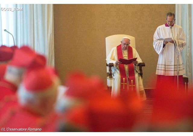 Consistoire du 20 juin 2016, L'Osservatore Romano
