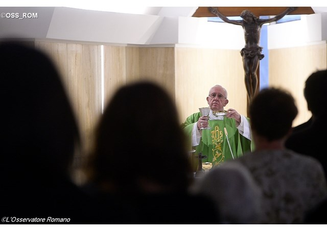 Messe à Sainte-Marthe, L'Osservatore Romano