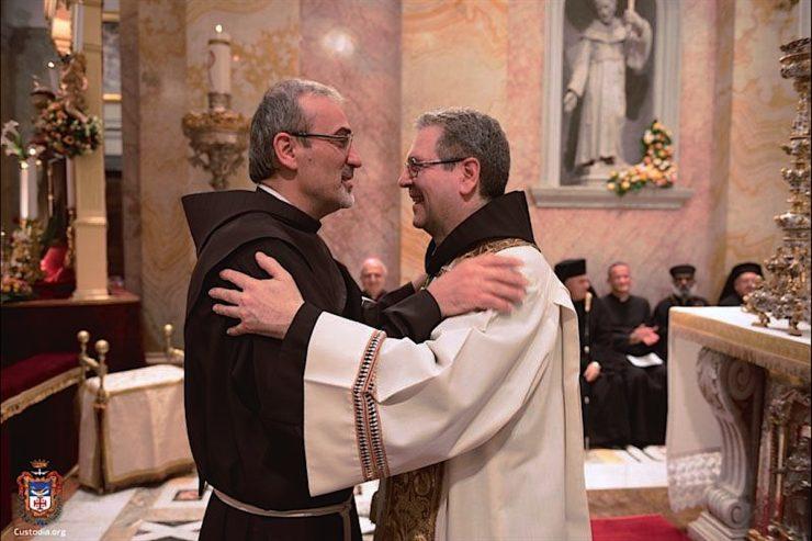 Le P. Pizzaballa et le P. Patton, (c) courtoisie de Custodie.org