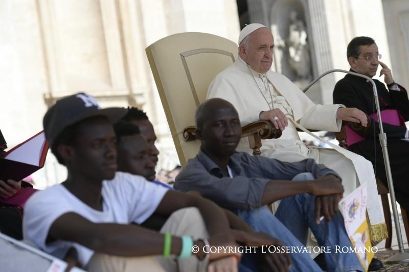 Audience du 22 juin 2016, réfugiés (c) L'Osservatore Romano