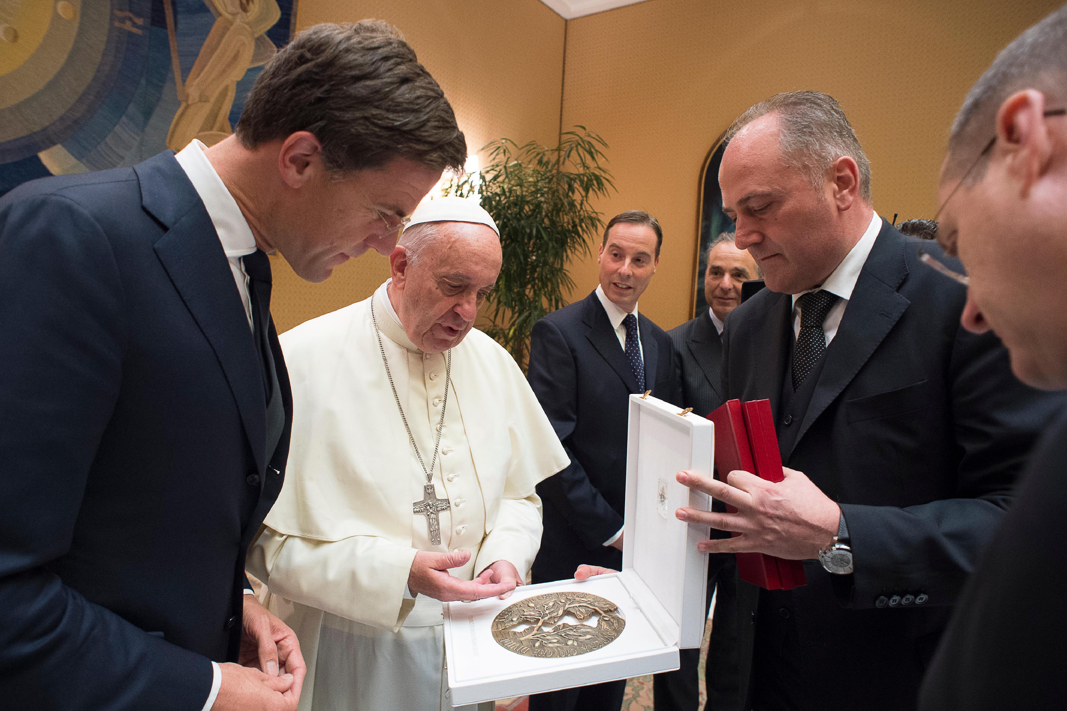 Mark Rutte, Premier minsitre des Pays-Bas au vatican, 15 juin 2016, L'Osservatore Romano