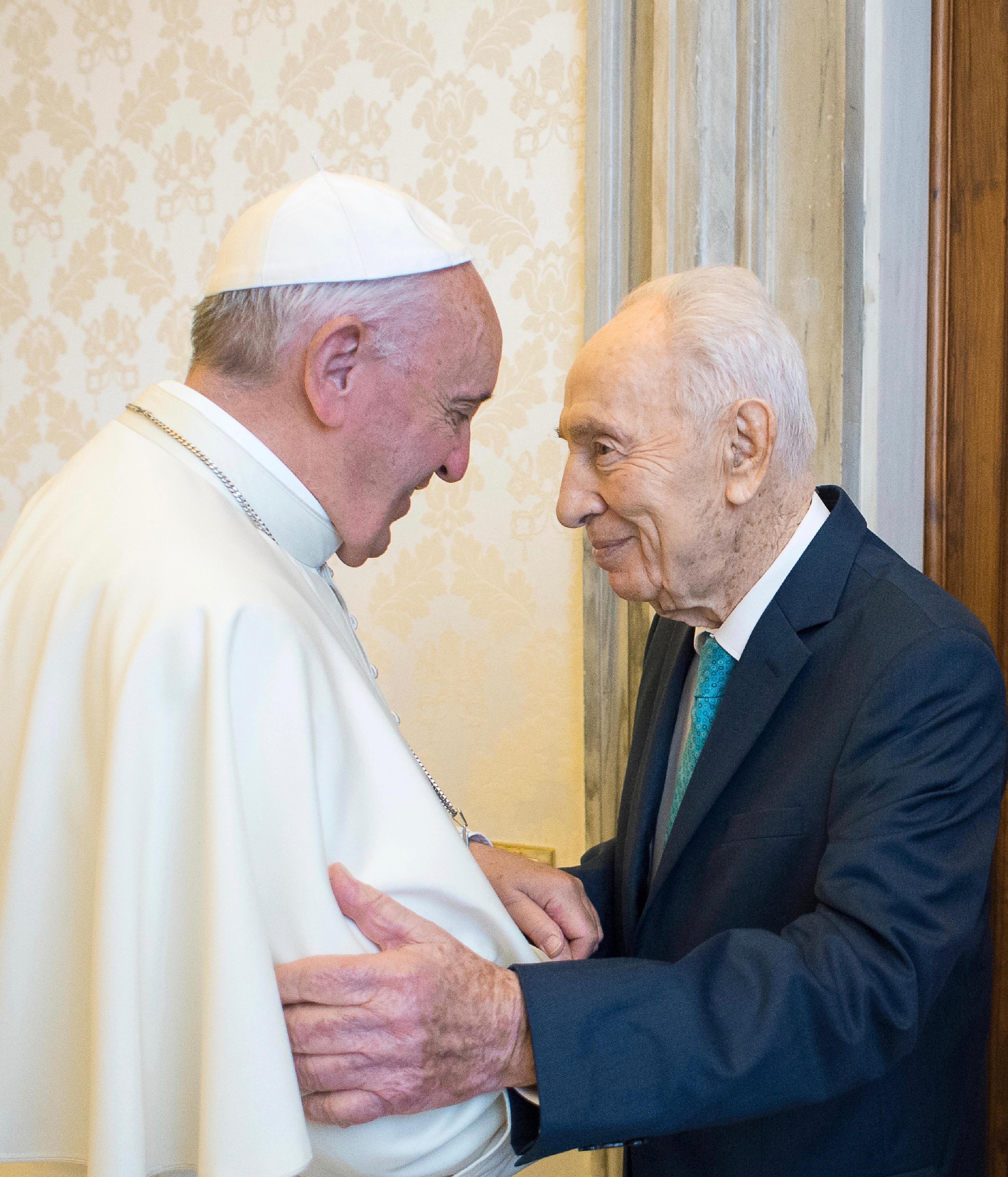 Le président Shimon Peres reçu par le pape François, 20 juin 2016