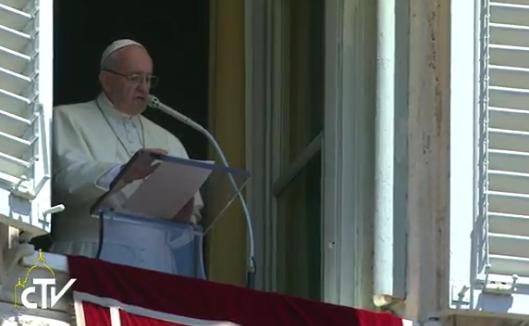 Pape François, angélus du 17 juillet 2016