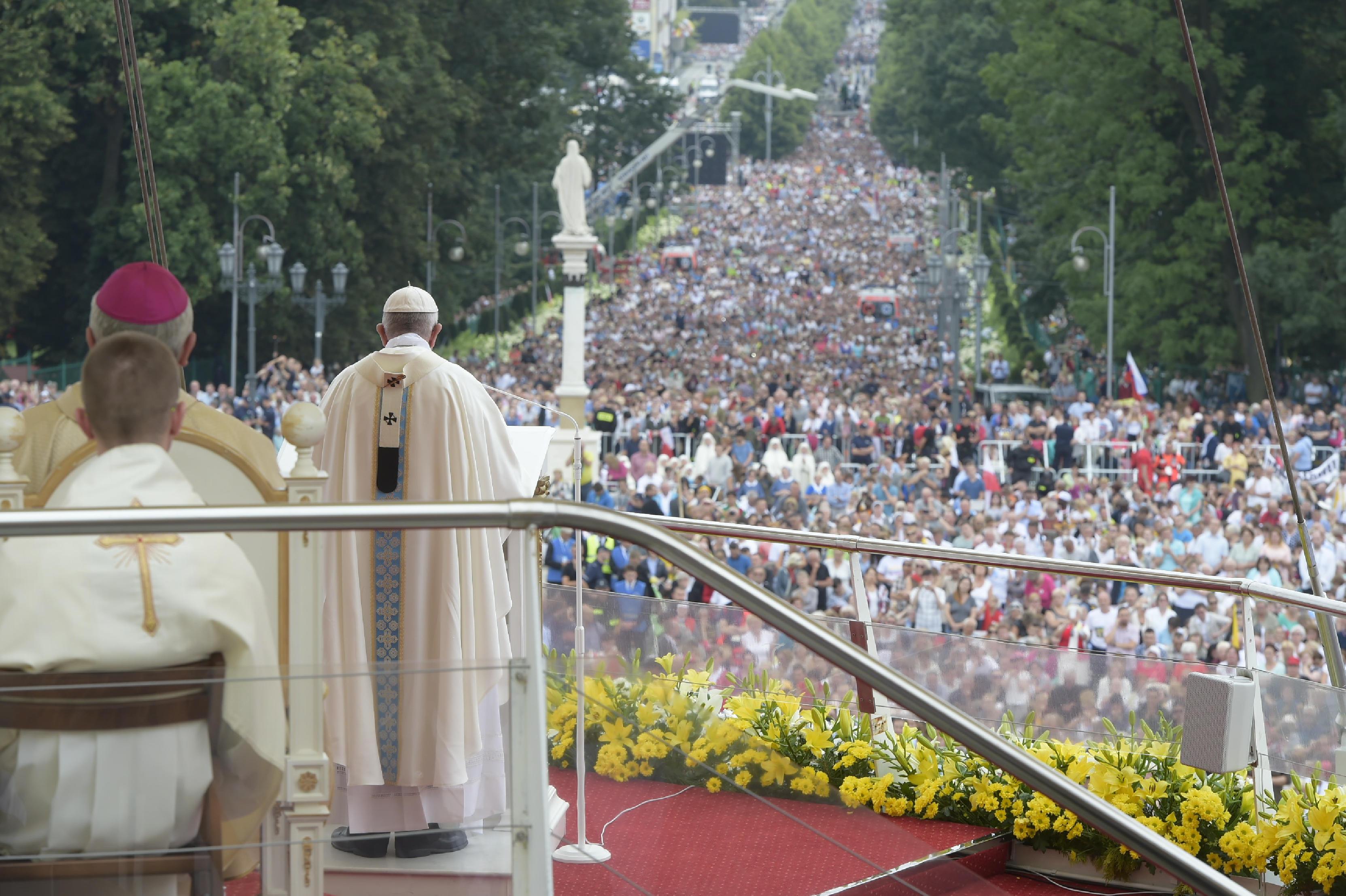 Messe à Jasna Gora, Czestochowa Pologne © L'Osservatore Romano