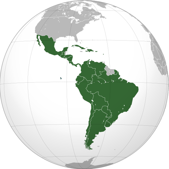 Amérique latine © Wikimedia commons