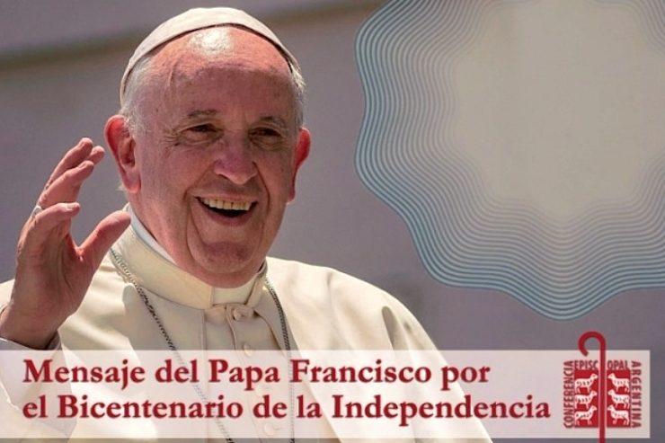 Message du pape François pour le bicentenaire de l'Indépendance, courtoisie de la Conférence épiscopale argentine