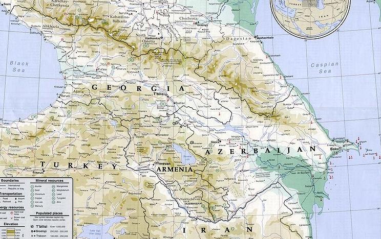 Géorgie et Azerbaïdjan © Wikimedia commons