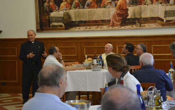Déjeuner à la curie des jésuites © RV