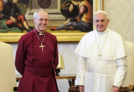 Le pape François et l'archevêque Justin Welby © L'Osservatore Romano