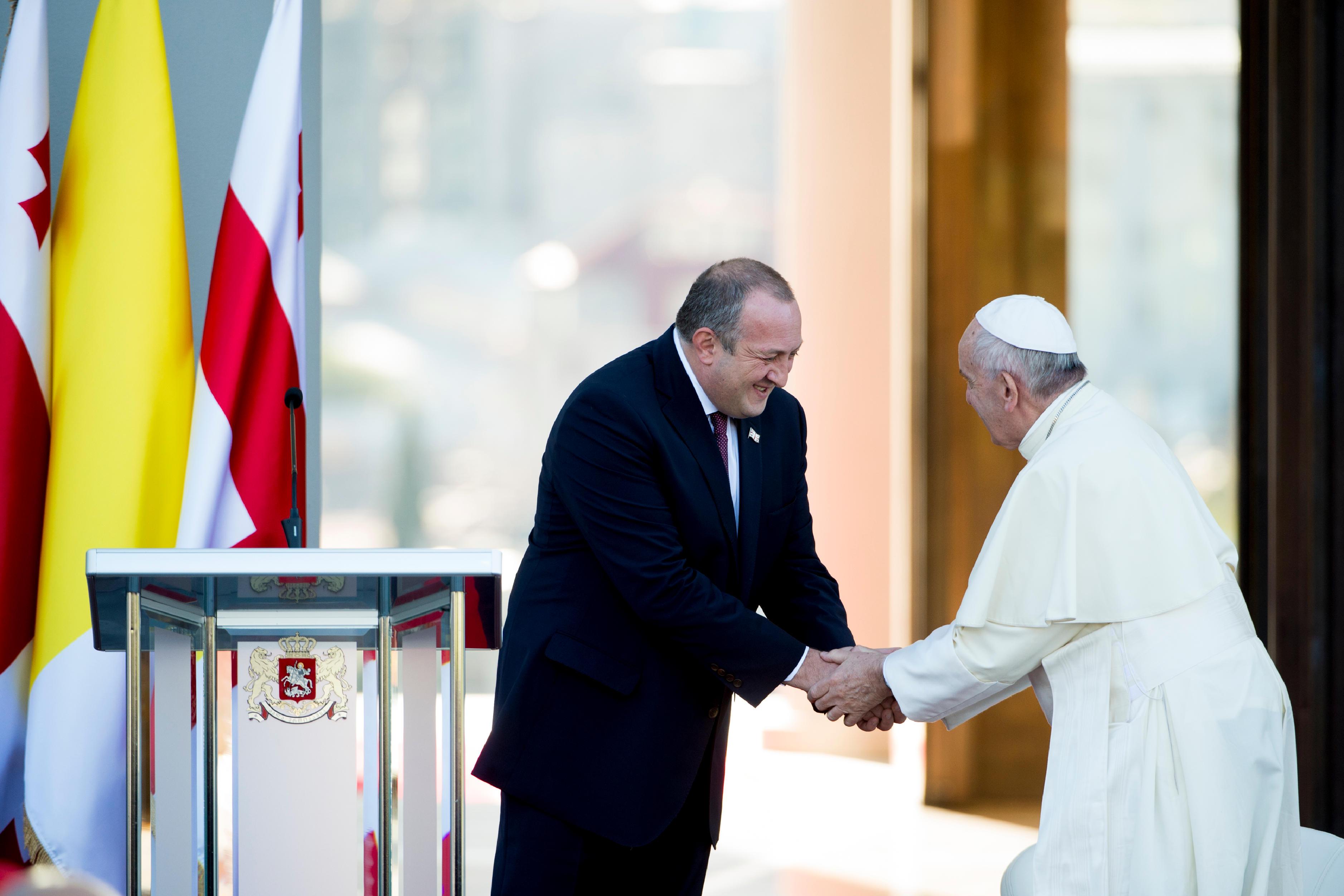 Visite au palais présidentiel de Tbilissi © L'Osservatore Romano