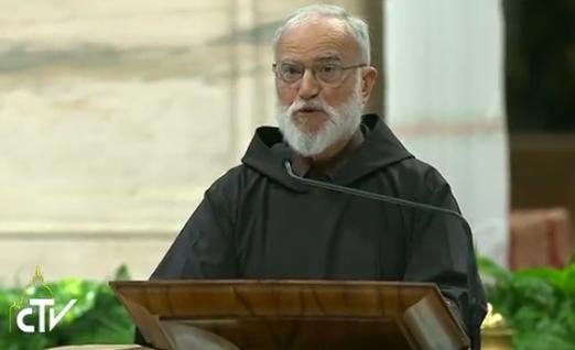 Père Cantalamessa, vêpres pour la Journée de prière pour la création, capture CTV