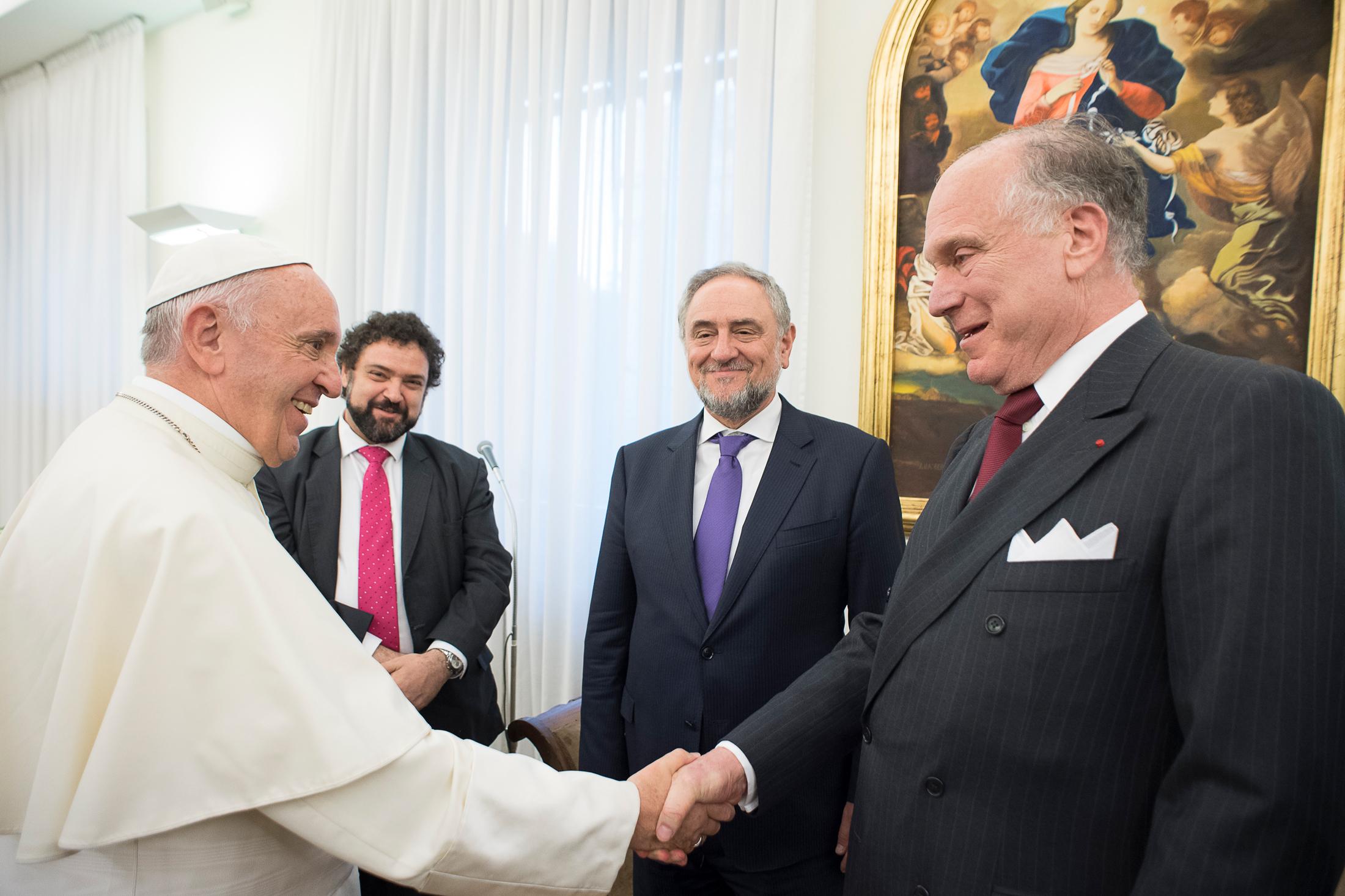 Audience au Congrès juif mondial, WJC © L'Osservatore Romano