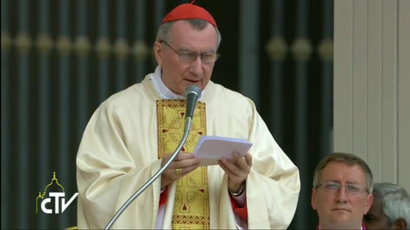 Le card. Parolin préside la messe de la fête de sainte Teresa de Calcutta, capture CTV