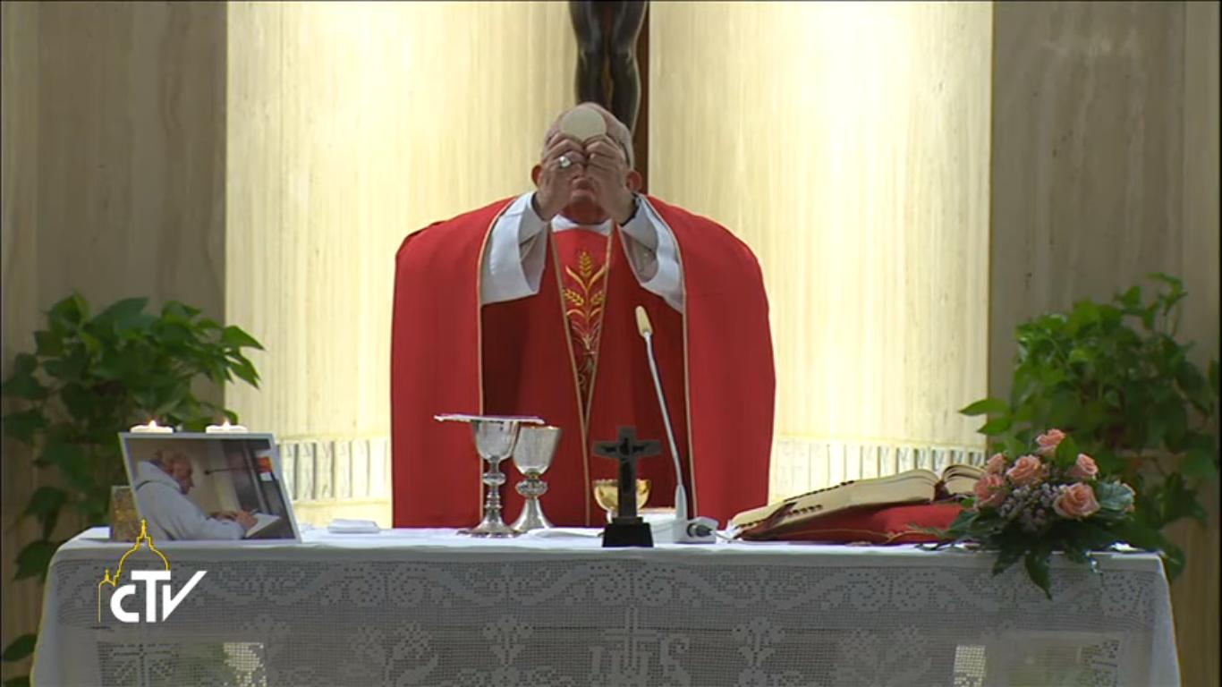 Messe en mémoire du père Jacques Hamel, 14 sept. 2016, capture CTV