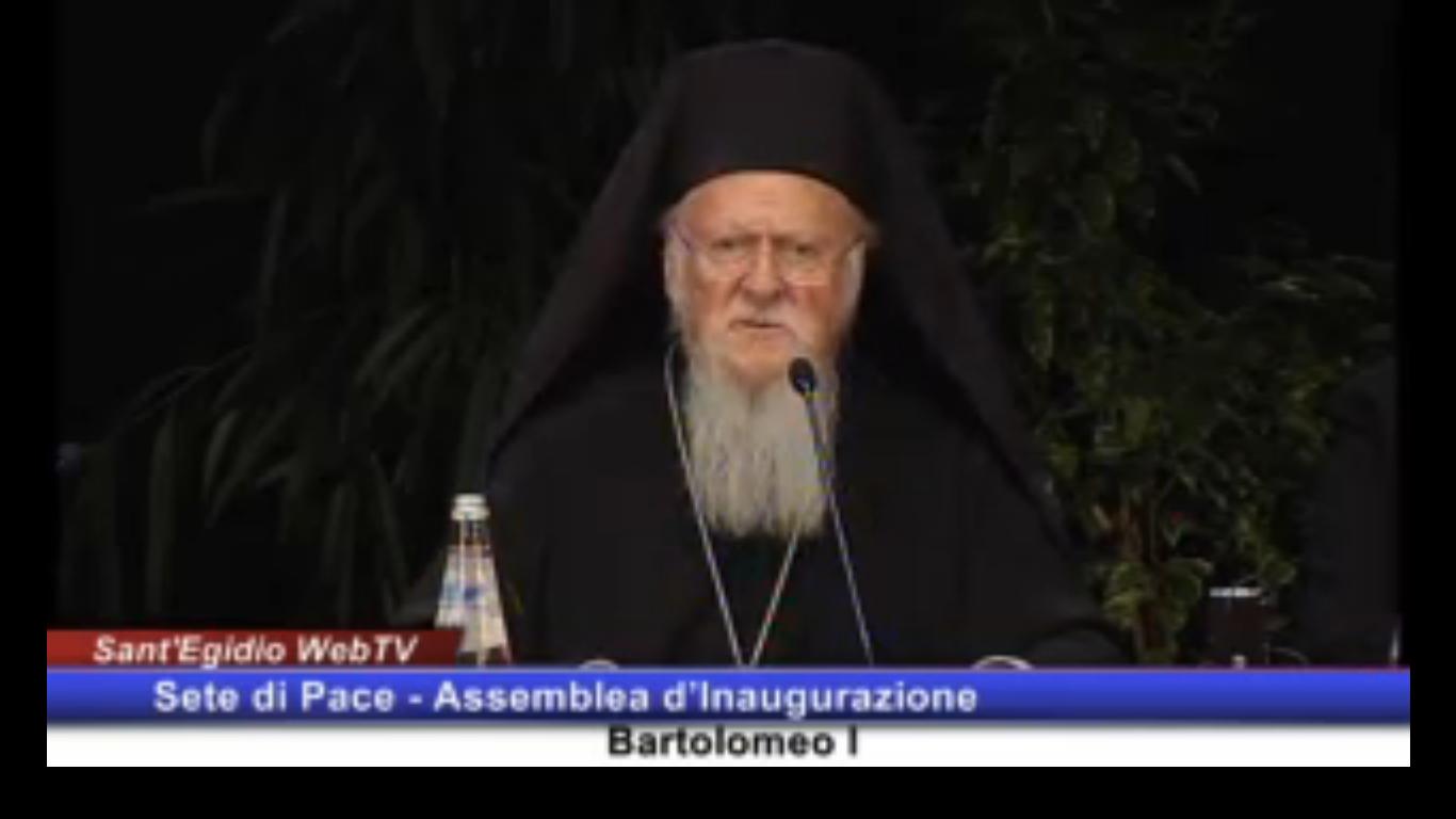 Patriarche Bartholomée à Assise, 18 sept. 2016, Capture