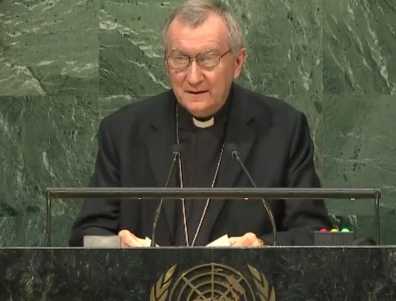 Le card. Pietro Parolin à l'ONU, compte facebook de la Mission du Saint-Siège aux Nations Unies