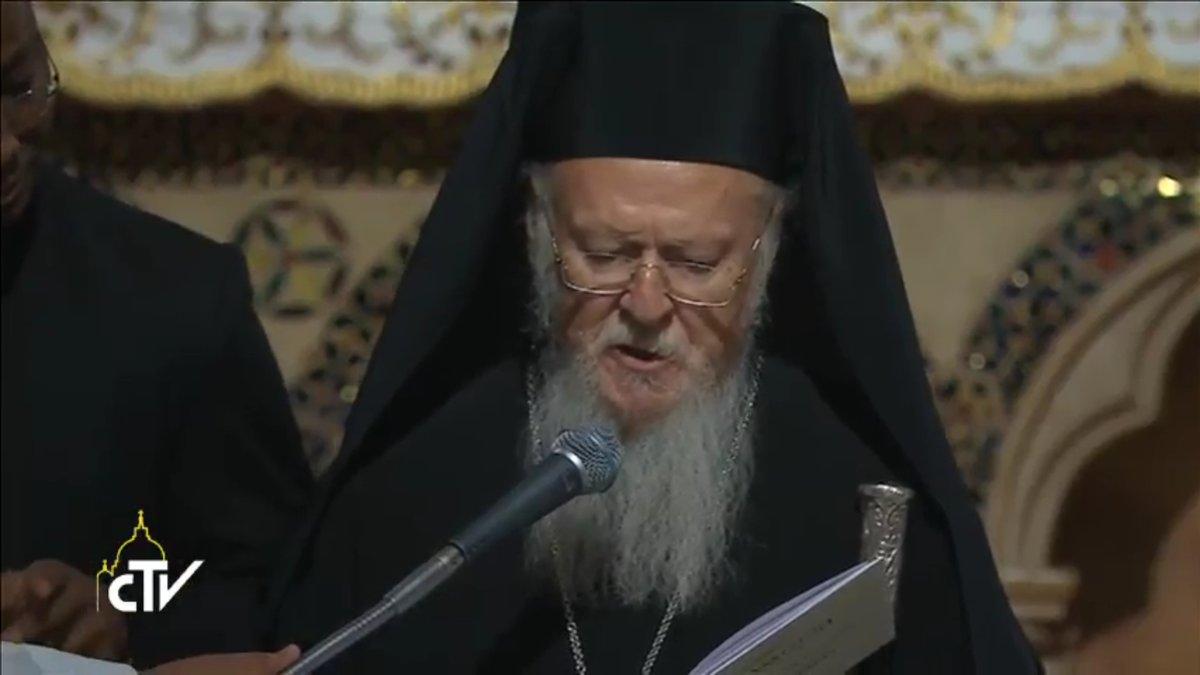 Intercession du patriarche Bartholomée, Assise, capture CTV