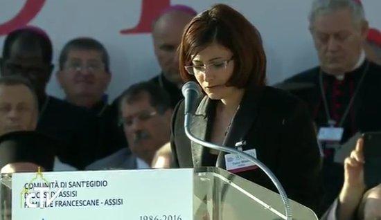 Tamar Mikalli à Assise, capture CTV