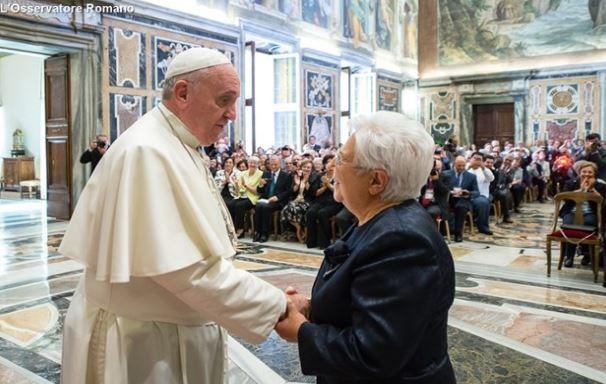Le pape et Maria Voce, présidente des Focolari © L'Osservatore Romano