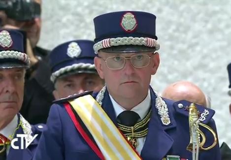 Domenico Giani, commandant de la Gendarmerie vaticane, capture CTV