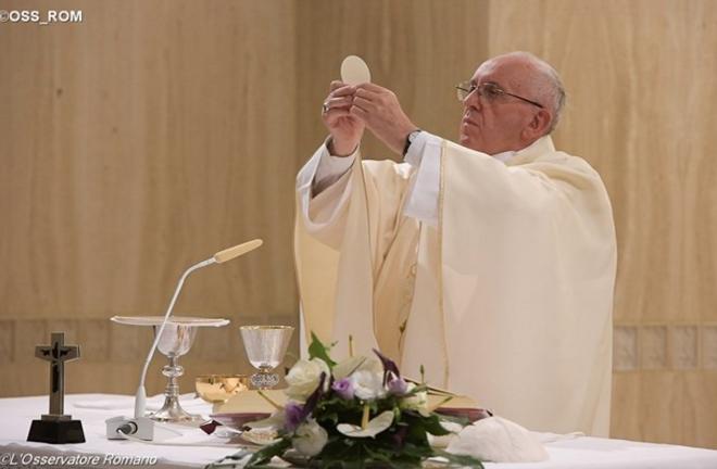 Pape François à Sainte-Marthe © L'Osservatore Romano