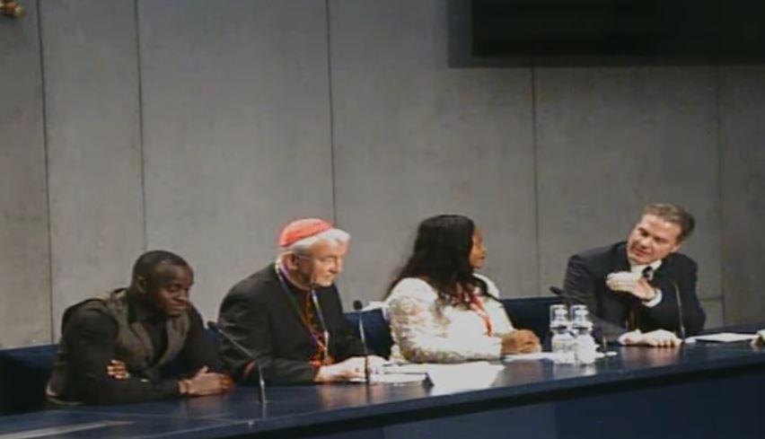 Conférence du Groupe Ste-Marthe contre le trafic d'êtres humains, capture CTV