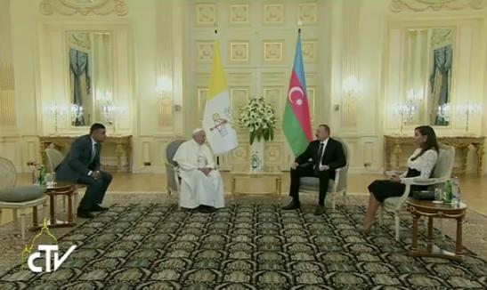 Rencontre avec le président Aliev, Bakou, Azerbaidjan, capture CTV