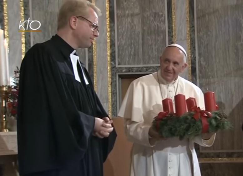 Visite à l'église luthérienne de Rome, capture KTO