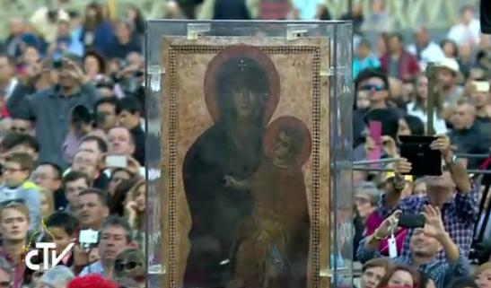 Vierge Salus populi romani, capture CTV