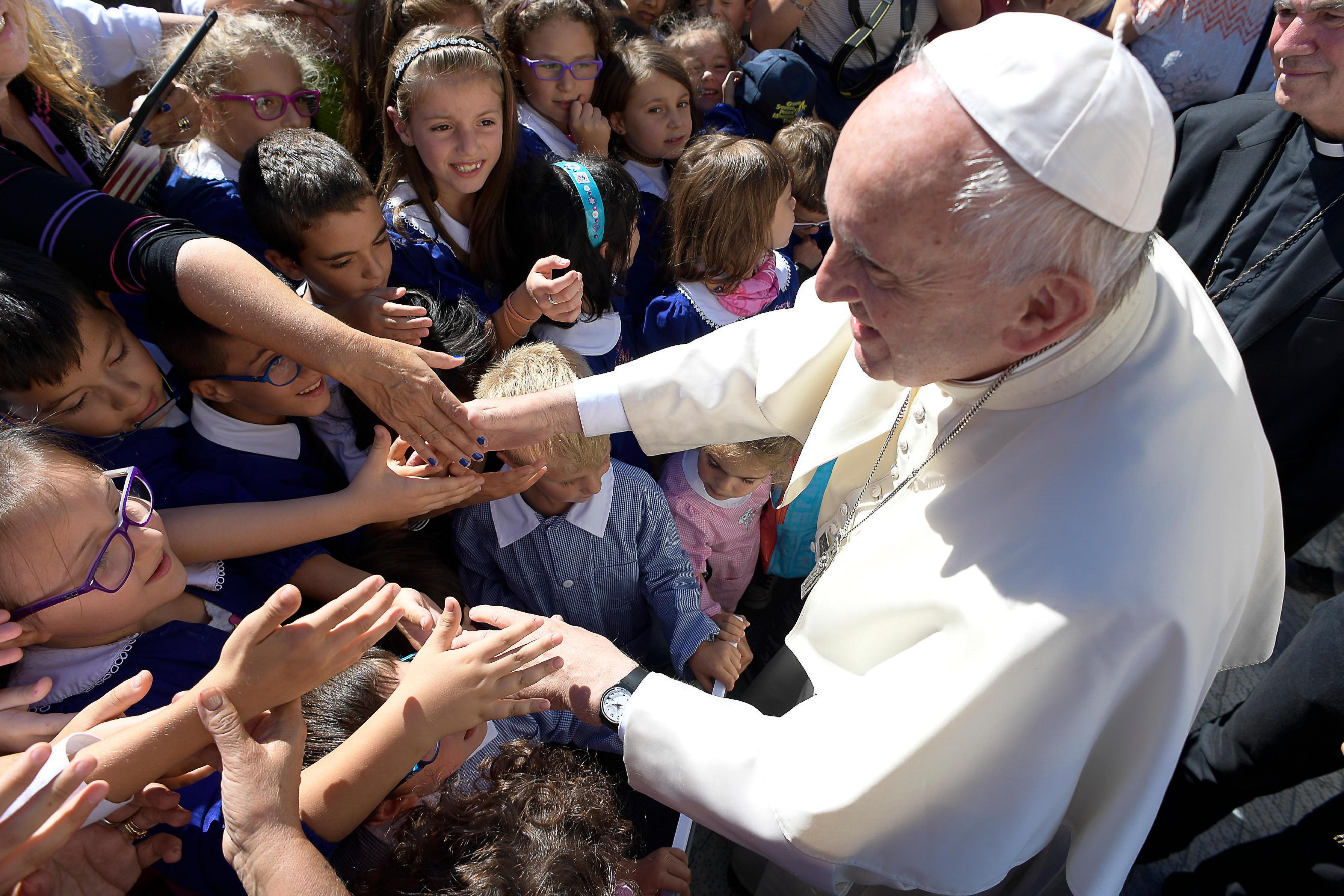 Le pape à Arquata del Tronto après le séisme @ L'Osservatore Romano