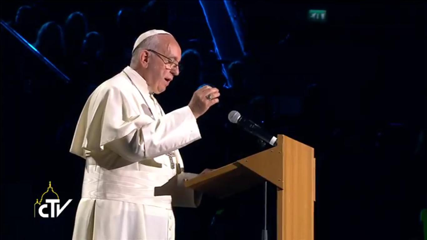 Le pape François à Malmö (Suède), capture CTV