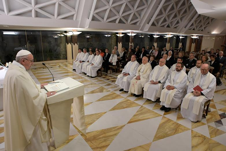 Messe à Sainte-Marthe, 11 oct. 2016 © L'Osservatore Romano
