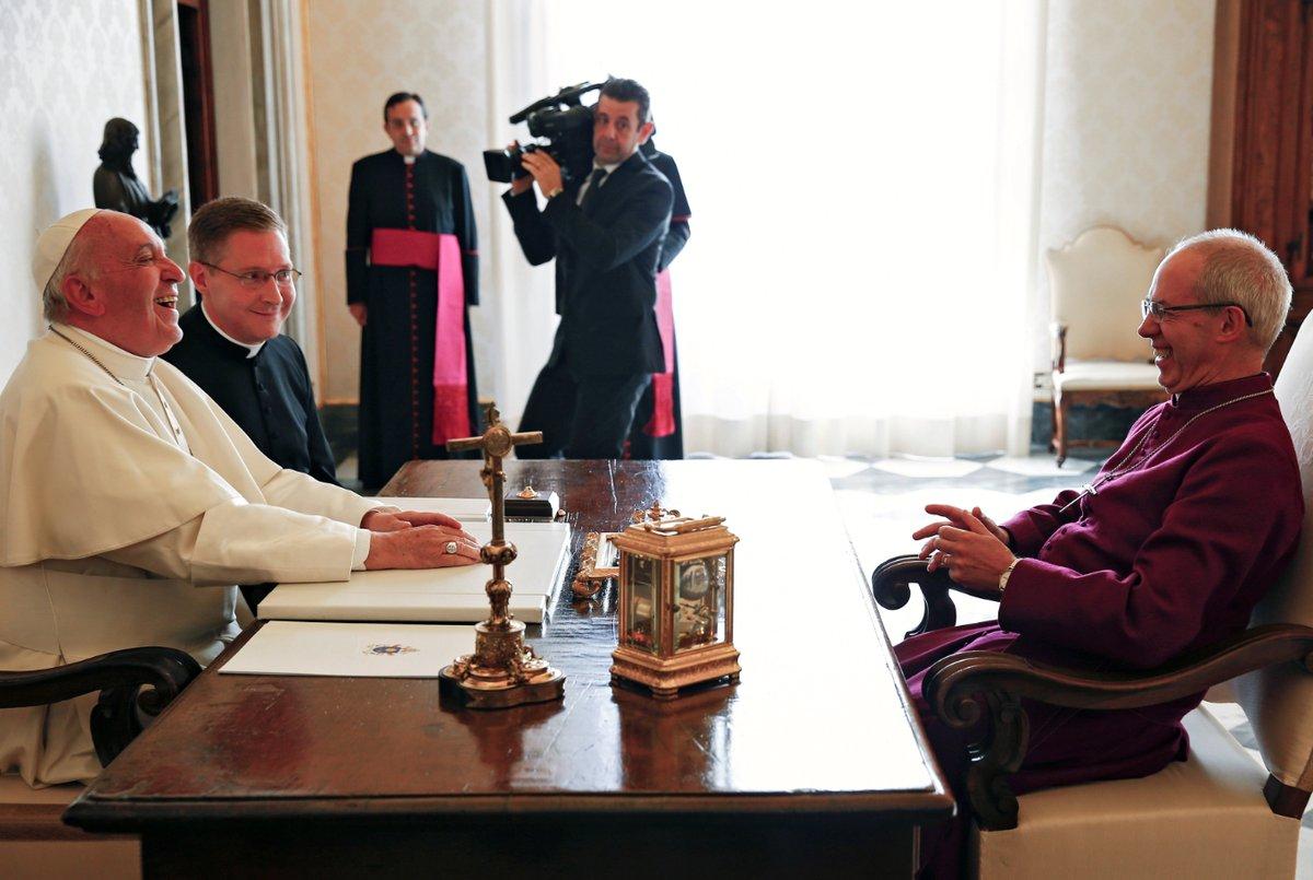 Le pape et l'archevêque Welby © Greg Burke