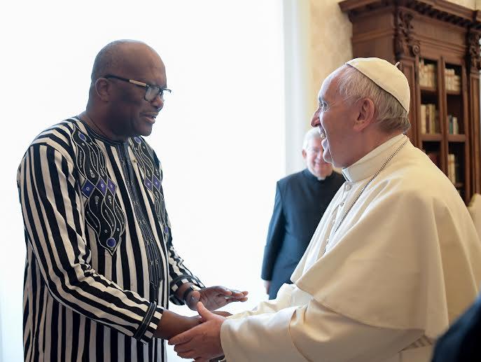 Le président Kaboré reçu par le pape François © L'Osservatore Romano