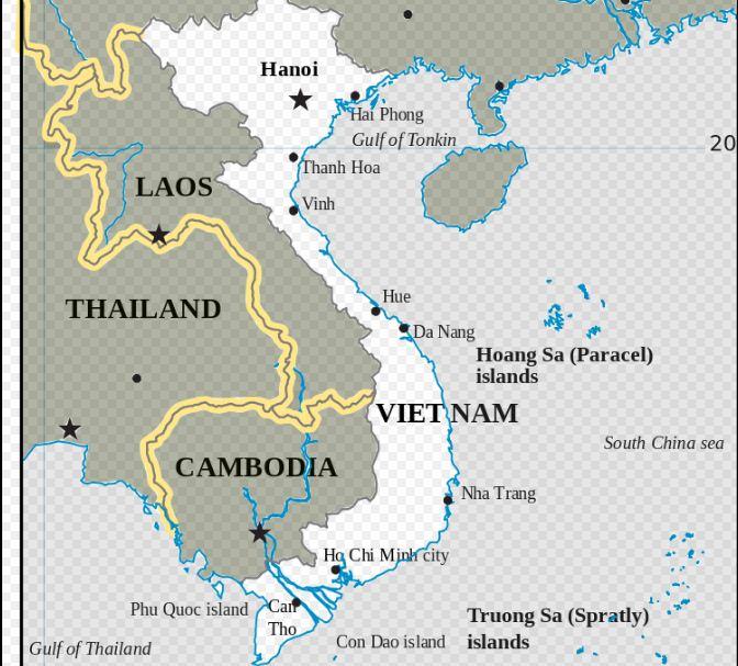 Carte du Vietnam © Wikimedia Commons / NgaViet